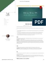FDI vs. FII vs