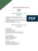 Criterios Evaluación Tribunales 2014 Para Todas Las Pruebas