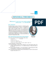 Class XI Chapter on Binomial Theorem