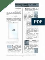 Norma ASTM Rayas Vidrios Templados