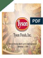 TSN Tyson Dec 2009 Presentation