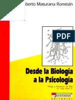 Humberto Maturana Desde La Biologia a La Psicologia