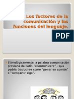 Factores de La Comunicacion- Funciones Del Lenguaje