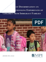 The Impact of Discrimination on the Early Schooling Experiences of Children From Immigrant Families