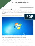 Como Descobrir a Chave de Registro Do Windows 7 _ Dicas e Tutoriais _ TechTudo