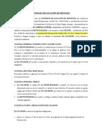 Contrato de Locación de Servicios 2015