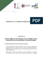 Informe Descentralización