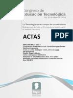 Acta 8 Congreso Educacion Tecnologica