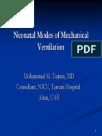 Peds Neonatal Modes