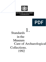 Standards in the Museum Care of Archaeological Collections 1992