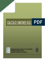 Calculo Uniones Soldadas 2013