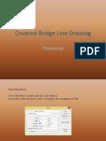 covered bridge line drawing