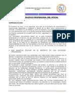 Formacion Etico Profesional de Oficial