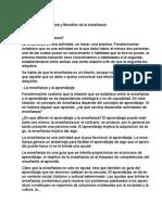 Enseñanza y Filosofias de La Enseñanza (Resumen)