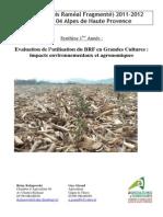Evaluation de l'utilisation du BRF en grandes cultures_2012