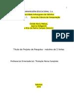 Manual de Instruções Projeto de Pesquisa