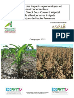 Evaluation des impacts agronomiques et environnementaux du SCV dans les Alpes de Haute de Provence