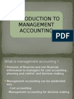 Introduction Management Accounting