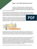 Cura natural de diabetes - un \'To-Do\' lista para curar la Diabetes