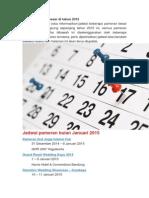 Jadwal Pameran Besar Di Tahun 2015
