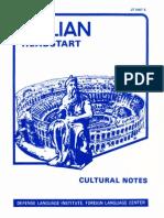 Italian Cultural Notes