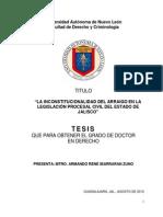 LA INCONSTITUCIONALIDAD DEL ARRAIGO EN LA LEGISLACIÓN PROCESAL CIVIL DEL ESTADO DE JALISCO