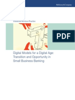 Digital Models for a Digital Age Transition and Opportunity in Small Business Banking