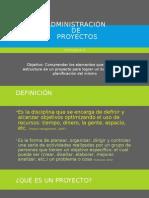 Administracion de Proyectos.