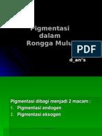 Pigmentasi Dalam Rongga Mulut
