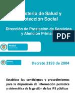 Presentación Decreto 2193 de 2004 Entes Publicos