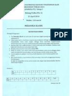 Soal Mekanika Klasik on-Mipa 2014