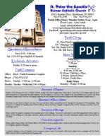 BulletinSept.13, 2015 St. Peter the Apostle
