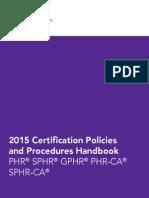 2015 Certification Handbook PDF