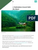10 Offbeat Destinations Near Delhi No One Talks About