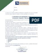 Carta Congreso i Congreso de Ingeniería Civil, Ponentes Sumac