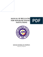 Manual of Regulations for Non-bank Financial Institutions