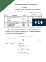 III Analiza Eficienței Unui Proiect Investițional