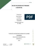 Metodo de Poligonos de Thiessen e Isoyetas