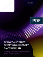 Science and Trust Expert Group Report -'Starting a National Conversation About Good Science'