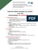 Tematica Licenta 2011 Mieapa