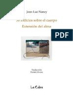Nancy Jean Luc - 58 Indicios Sobre El Cuerpo Extension Del Alma