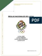 Feloda Reglas Nacionales de Lucha 2015