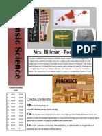 forensic science syllabus 2014-2105