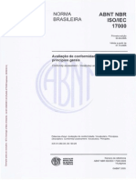 NBR 17000 - 2005 - Avaliação de Conformidade - Vocabulário e Principios Gerais