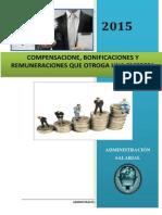 Compensaciones, Bonificaciones y Remuneraciones