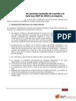 GAL Clasificacion de Personas Naturales de Acuerdo La Reforma Tributaria Ley 1607 12 y Su Impacto