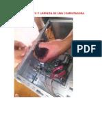 Mantenimiento y Limpieza de Una Computadora