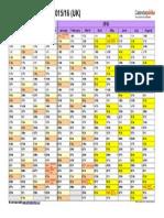 Academic Calendar 2015 2016 Landscape