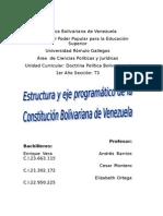 Doctrina Política Bolivariana I