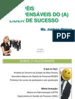 Palestra 5 Papéis Do Líder de Sucesso - Casa Civil - Ms. Joelson Matoso